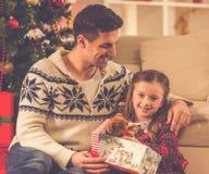Célébration de Joyeux Noël Photo stock