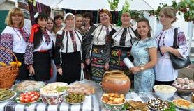 Célébration de la broderie et du borscht Photos stock