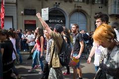 Célébration de la libération tenue à Milan le 25 avril 2014 Image libre de droits