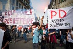 Célébration de la libération tenue à Milan le 25 avril 2014 Photo stock