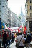 Célébration de la libération tenue à Milan le 25 avril 2014 Images stock