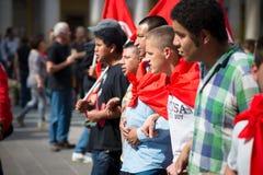 Célébration de la libération tenue à Milan le 25 avril 2014 Photographie stock