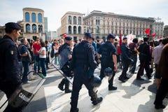 Célébration de la libération tenue à Milan le 25 avril 2014 Photographie stock libre de droits