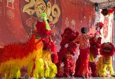 Célébration de la nouvelle année chinoise à Madrid, étape photo stock