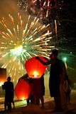 Célébration de la nouvelle année en Thaïlande Images libres de droits