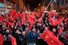 Célébration de la Turquie de référendum Photographie stock libre de droits