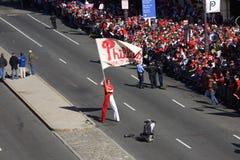 célébration de la victoire de série du monde de Phillies Photo libre de droits