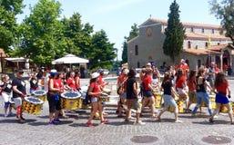 Célébration de marathon d'Olympe Image stock