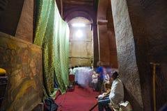 Célébration de Meskel, Lalibela, Ethiopie images stock