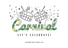 Célébration de moment de carnaval du Brésil illustration libre de droits