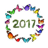 Célébration de nature de nouvelle année Image libre de droits