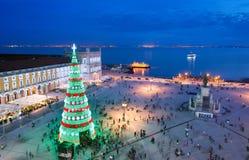 Célébration de Noël de Lisbonne, Portugal photo stock