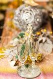 Célébration de Noël et de nouvelle année avec le champagne photographie stock
