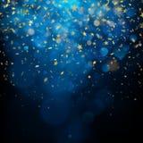 Célébration de Noël ou concept abstrait Étoiles éclatantes sur le fond foncé ENV 10 illustration de vecteur