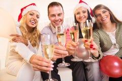 Célébration de Noël ou de la nouvelle année Photos libres de droits