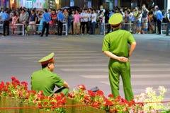 Célébration de nouvelle année de Tet au centre de la ville de Sai Gon Photos libres de droits