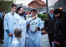 Célébration de Pâques dans l'église orthodoxe Image stock