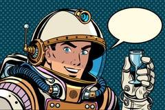 Célébration de pain grillé de cosmonaute illustration de vecteur