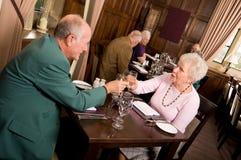 Célébration de personnes plus âgées Photographie stock libre de droits