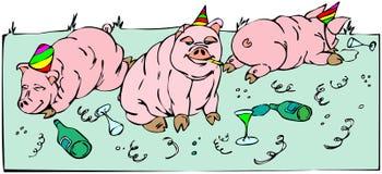 Célébration de porcs Image libre de droits