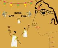 Célébration de puja de Durga Drapeau créateur illustration stock