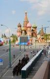Célébration de ressort et de Fête du travail. Descente de Vasilevsky. Photographie stock