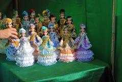 Célébration de Sabantui à Moscou Figures des poupées Images stock
