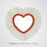 Célébration de Saint-Valentin avec la forme élégante de coeur Photos stock