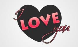 Célébration de Saint-Valentin avec le texte et le coeur d'amour Photo libre de droits