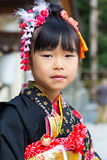 célébration de Shichi-aller-San au tombeau d'Hiroshima Gokoku Photographie stock libre de droits