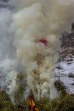Célébration de Shrovetide - vacances russes traditionnelles Image libre de droits