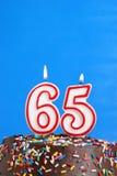 Célébration de soixante-cinq ans Photos stock