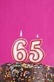 Célébration de soixante-cinq ans Image libre de droits