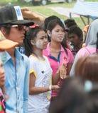 Célébration de Songkran au Cambodge 2012 Photo libre de droits