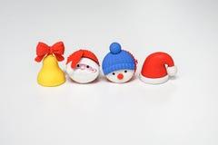 Célébration de symbole de Noël et salutation d'isolement de saison Image stock