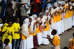 Célébration de Timkat en Ethiopie Images stock