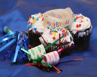 Célébration de trio de gâteau Photo libre de droits