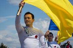 Célébration de Victory Day à Kiev Images libres de droits