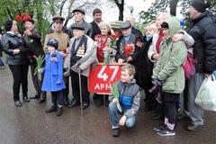 Célébration de Victory Day à Moscou Photos stock