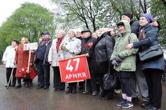 Célébration de Victory Day à Moscou Photo libre de droits