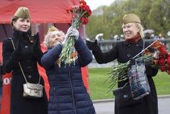 Célébration de Victory Day à Moscou Image libre de droits