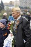 Célébration de Victory Day à Moscou Combattant et adolescent Image stock