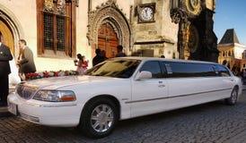 Célébration de voiture de mariage Images libres de droits