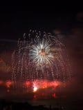 Célébration des feux d'artifice turcs de jour de République Images libres de droits