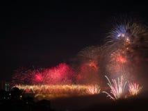 Célébration des feux d'artifice turcs de jour de République Image stock