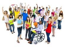 Célébration diverse et multi-ethnique d'étudiants Images libres de droits