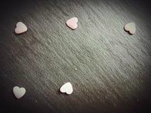 Célébration douce de plat d'amour de symbole de coeurs Image libre de droits
