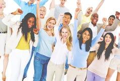 Célébration du concept d'unité d'amitié de bonheur Images libres de droits