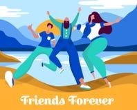 Célébration du concept de jour d'amitié illustration de vecteur