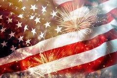 Célébration du Jour de la Déclaration d'Indépendance aux USA Photographie stock libre de droits